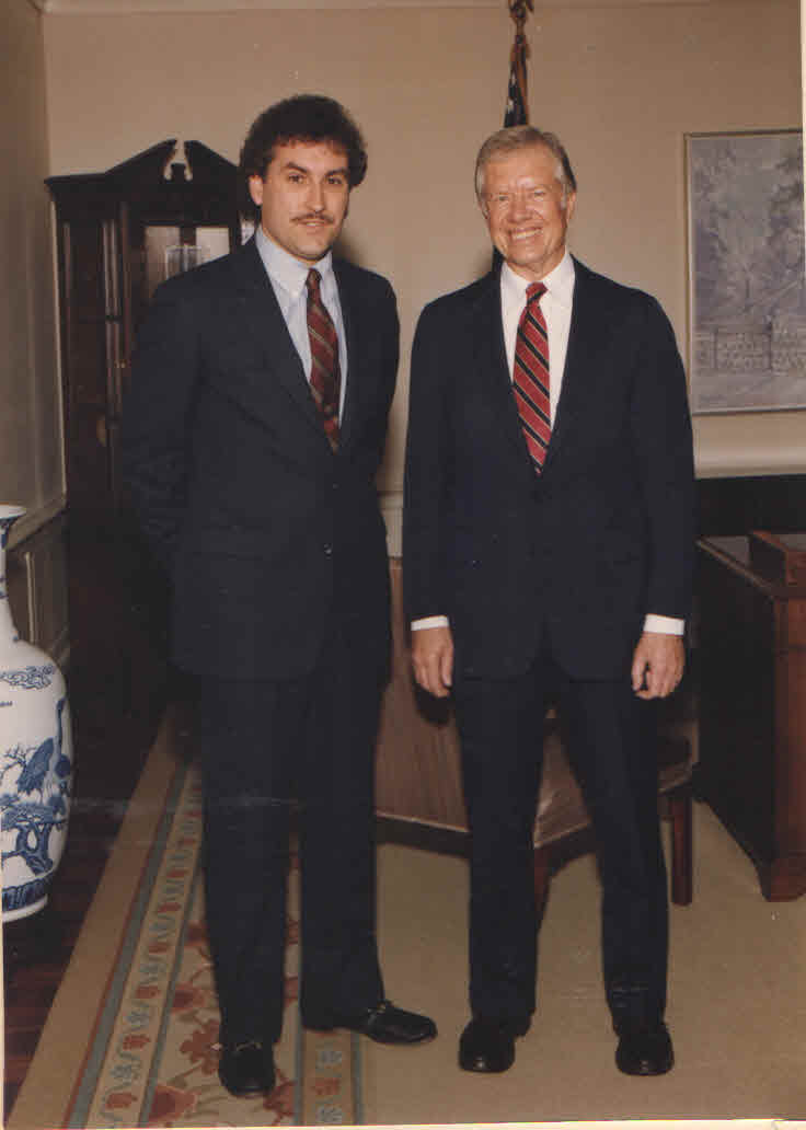 Jimmy Carter and Doug Wead in Atlanta. (Photo with permission Wead Collection.)