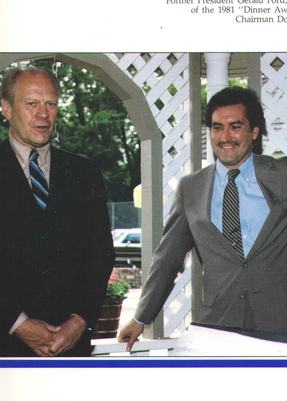 President Gerald Ford with Doug Wead at the Wead residence in Missouri. (Photo from Wead collection.)